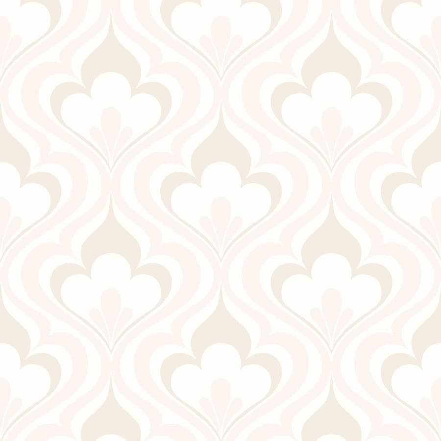 Brewster Wallcovering Simple Space 2 Beige Non-Woven Damask Wallpaper
