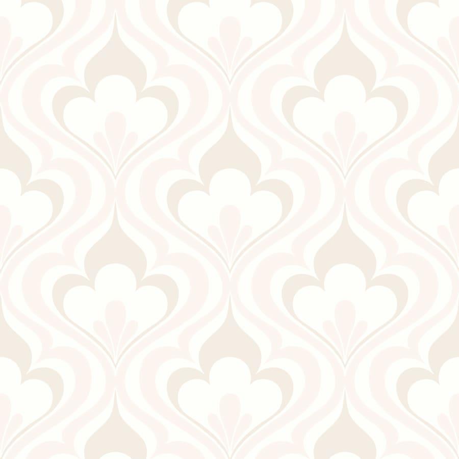 Brewster Wallcovering Beige Paper Damask Wallpaper