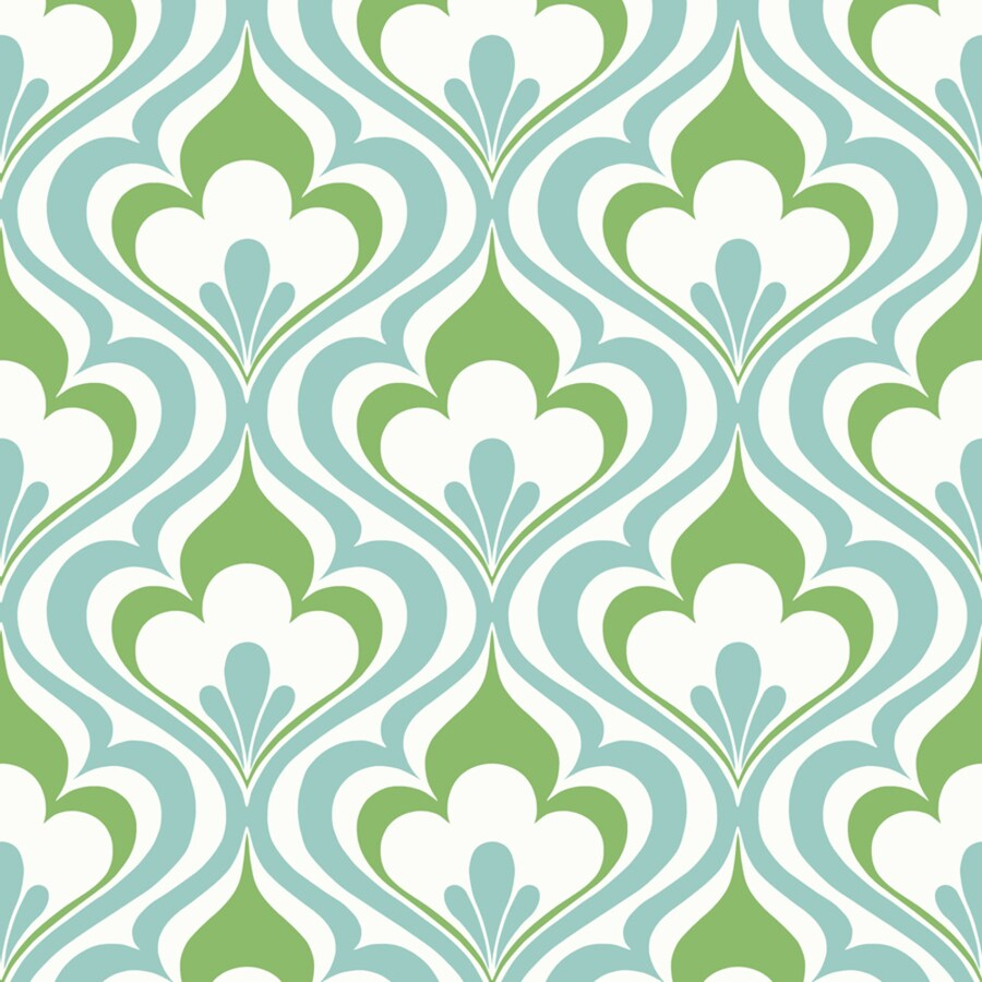 Brewster Wallcovering Simple Space 2 Blue Non-Woven Damask Wallpaper