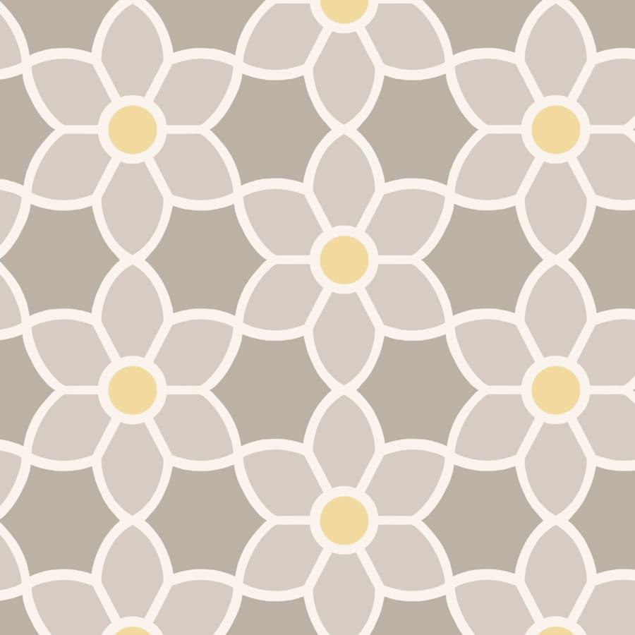 Brewster Wallcovering Grey Paper Floral Wallpaper