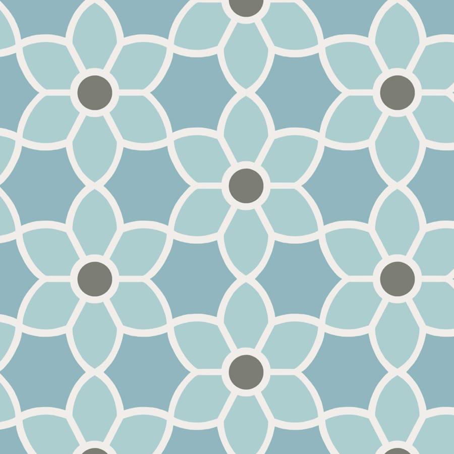Brewster Wallcovering Blue Paper Floral Wallpaper