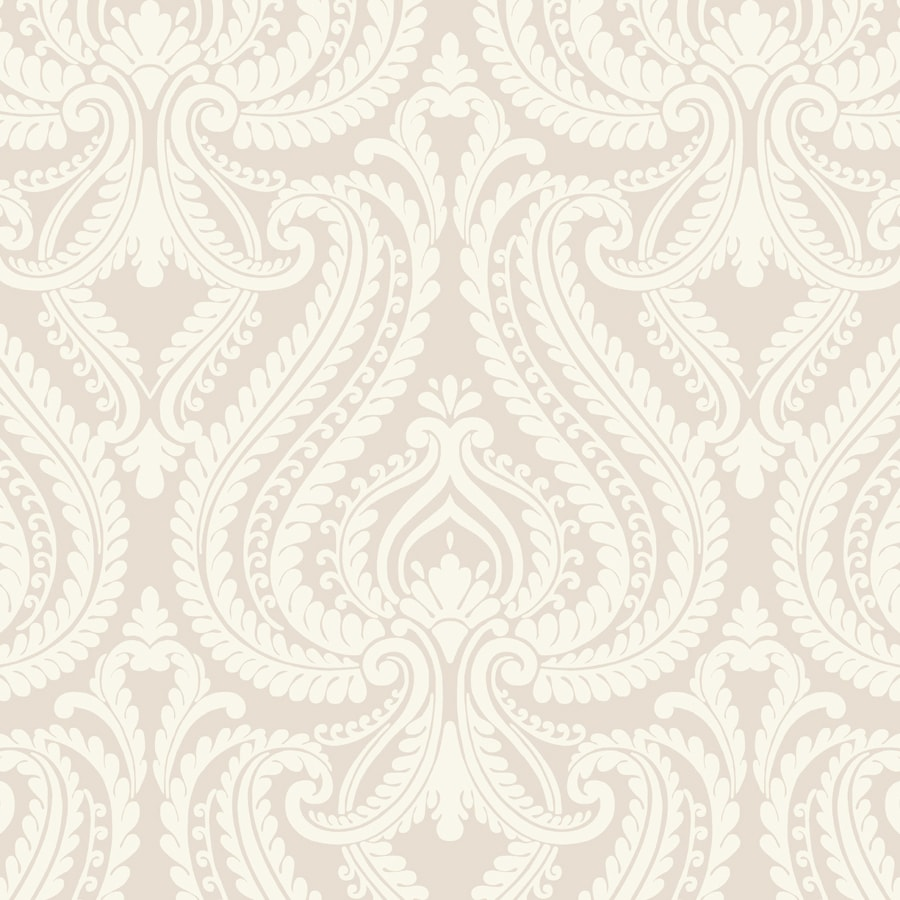 Brewster Wallcovering Simple Space 2 Beige/Grey Non-Woven Damask Wallpaper