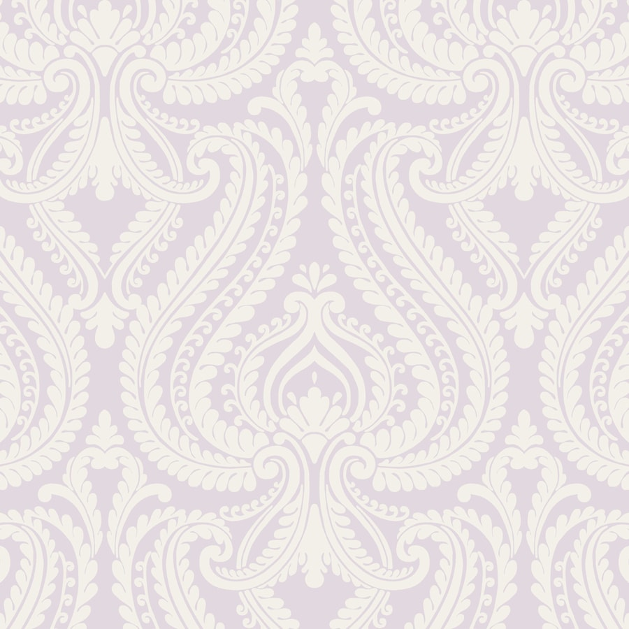 Brewster Wallcovering Simple Space 2 Lavender Non-Woven Damask Wallpaper