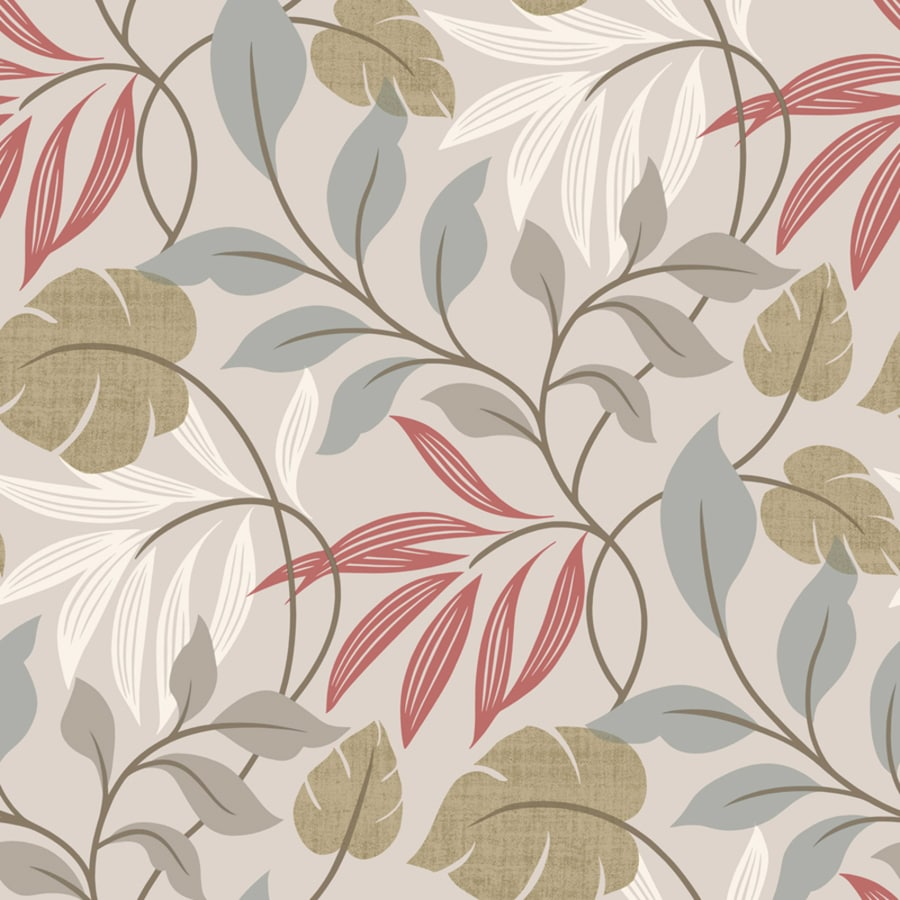 Brewster Wallcovering Simple Space 2 Grey Non-Woven Ivy/Vines Wallpaper