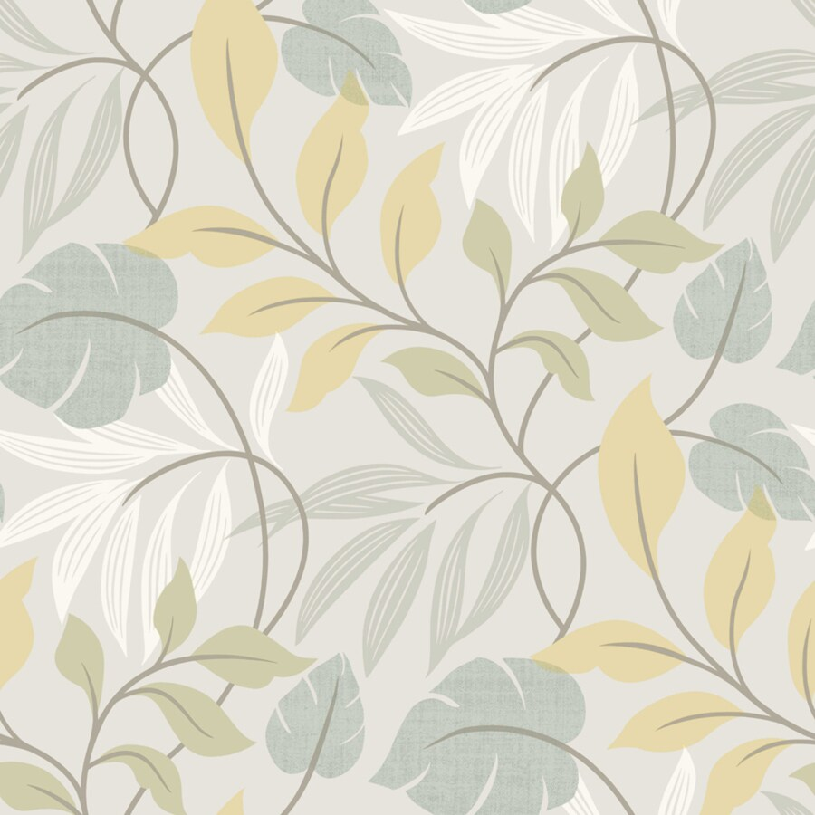 Brewster Wallcovering Simple Space 2 Gray/Blue Non-Woven Ivy/Vines Wallpaper