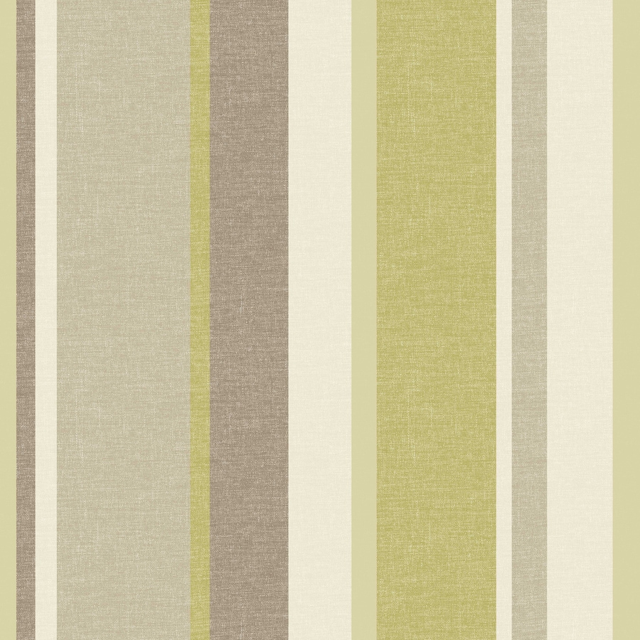 Brewster Wallcovering Green Paper Stripes Wallpaper