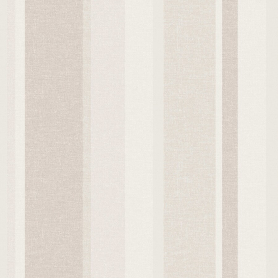 Brewster Wallcovering Simple Space 2 Cream/Grey Non-Woven Stripes Wallpaper