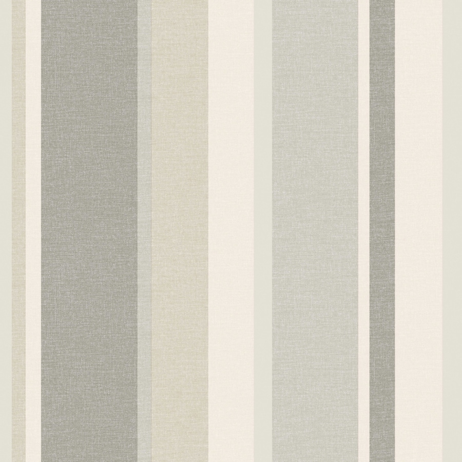 Brewster Wallcovering Simple Space 2 Beige Non-Woven Stripes Wallpaper