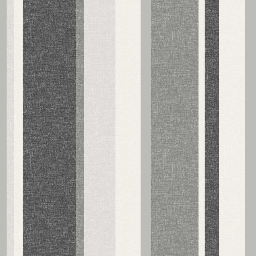 Brewster Wallcovering Simple Space 2 Black Non-Woven Stripes Wallpaper