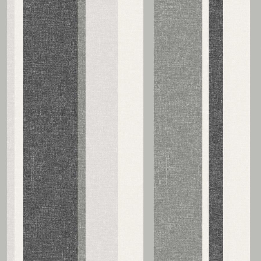 Brewster Wallcovering Black Paper Stripes Wallpaper
