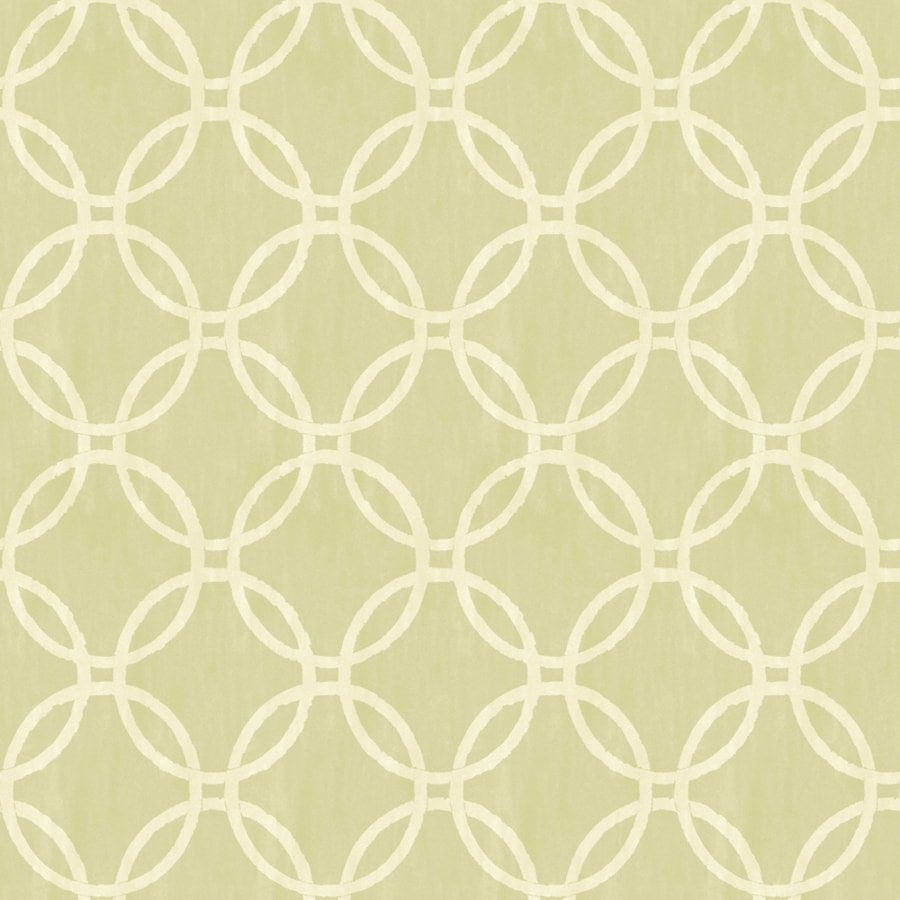 Brewster Wallcovering Green Paper Geometric Wallpaper