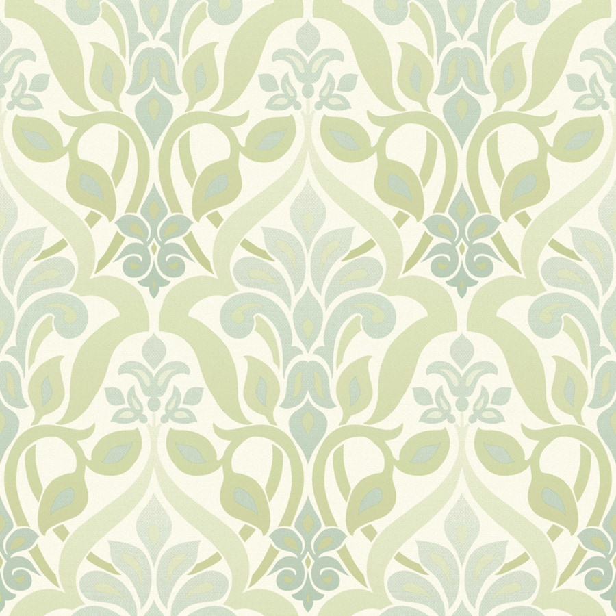 Brewster Wallcovering Simple Space 2 Green Non-Woven Damask Wallpaper