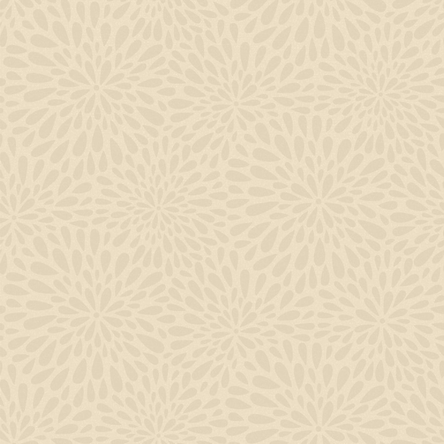 Brewster Wallcovering Simple Space 2 Beige/Grey Non-Woven Floral Wallpaper