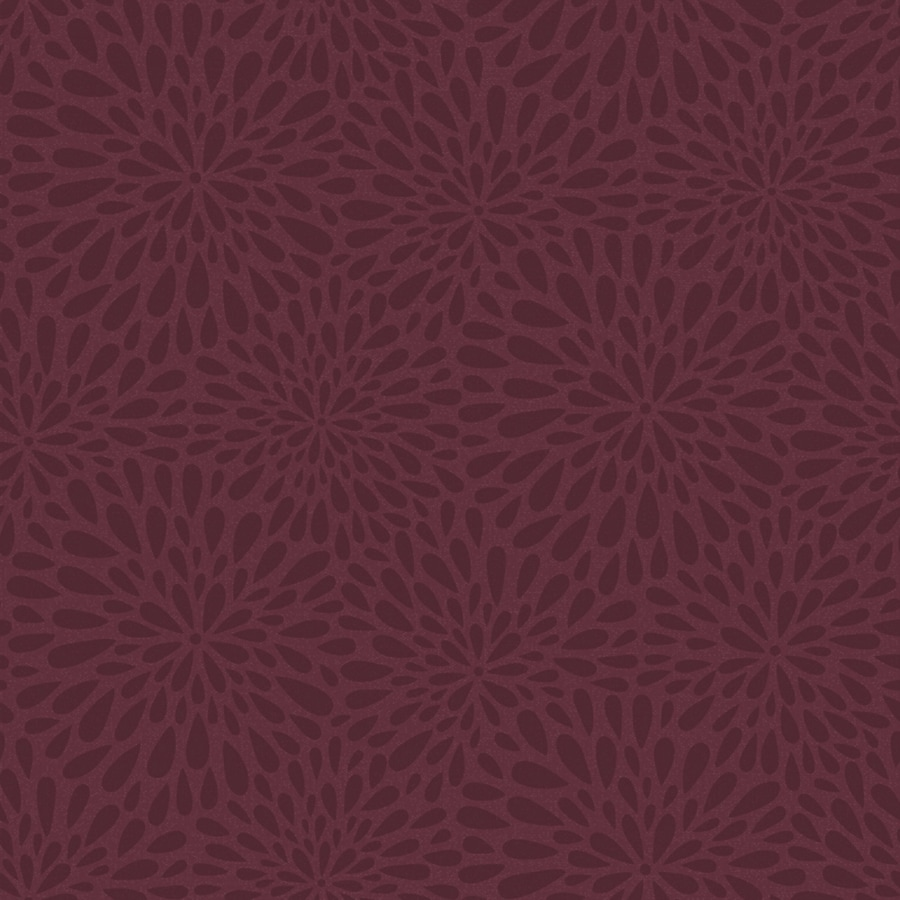 Brewster Wallcovering Simple Space 2 Maroon Non-Woven Floral Wallpaper
