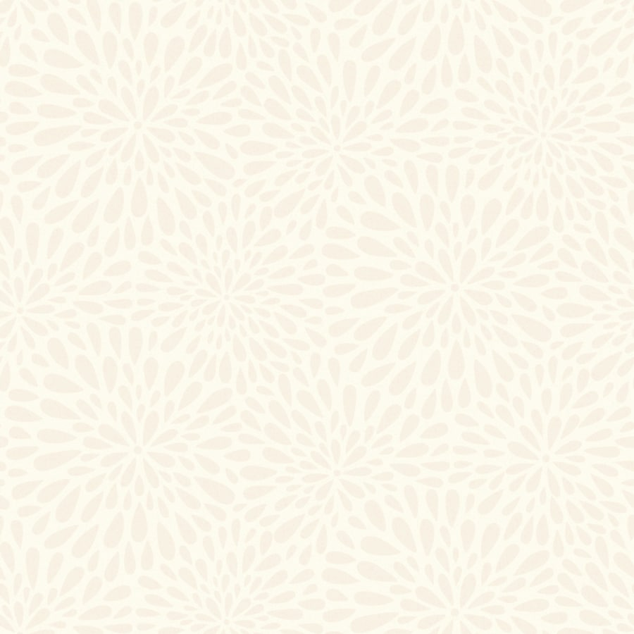 Brewster Wallcovering Simple Space 2 Beige Non-Woven Floral Wallpaper