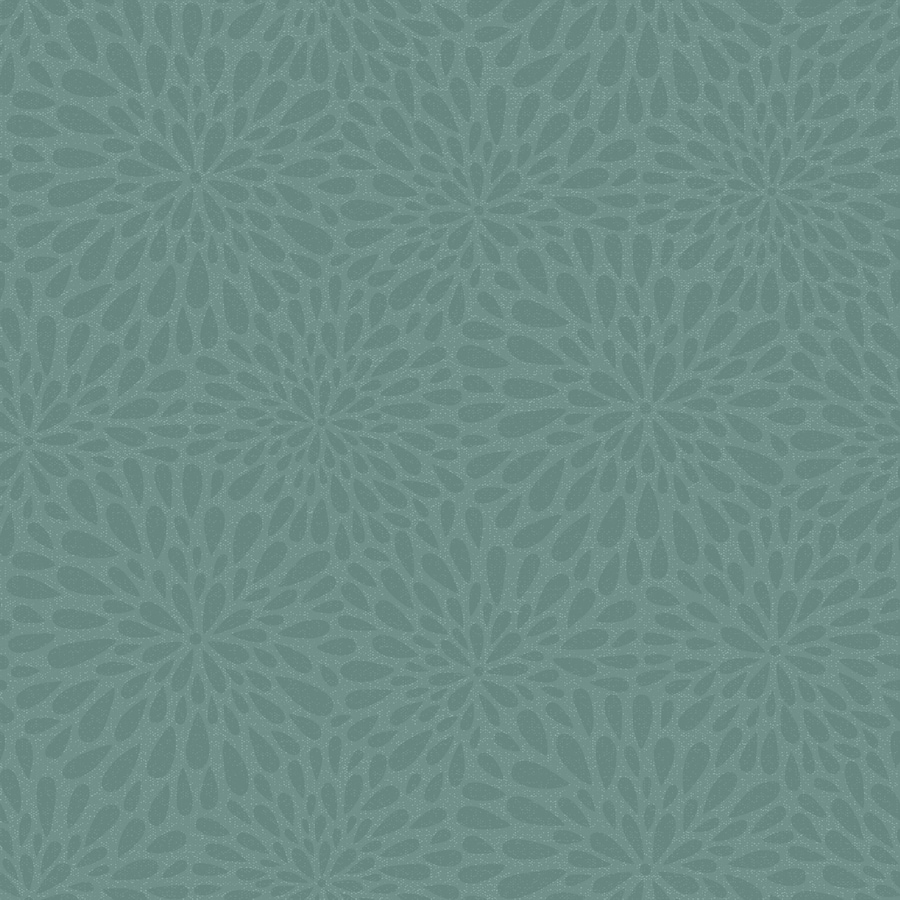 Brewster Wallcovering Teal Classic Floral Wallpaper