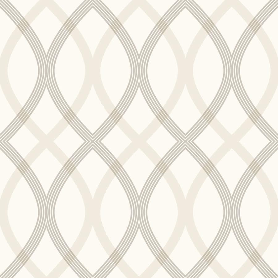 Brewster Wallcovering White/Grey Classic Geometric Wallpaper