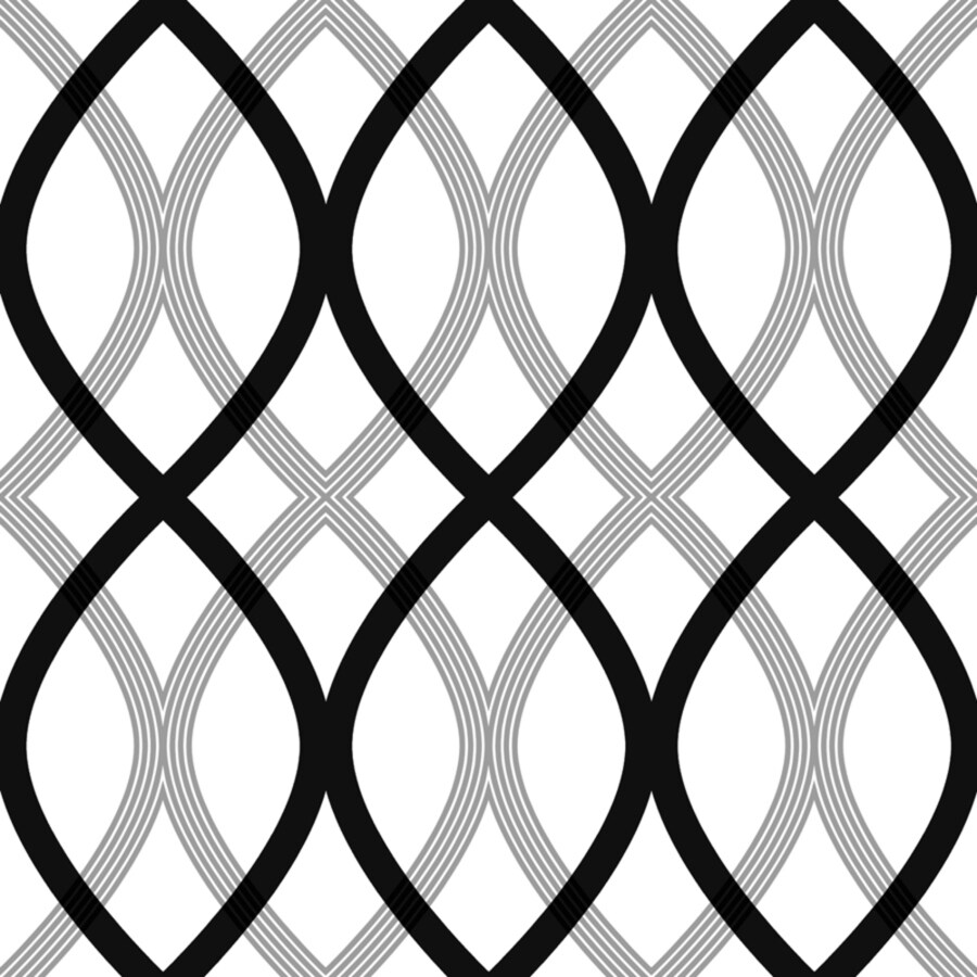 Brewster Wallcovering Simple Space 2 White/Black Non-Woven Geometric Wallpaper