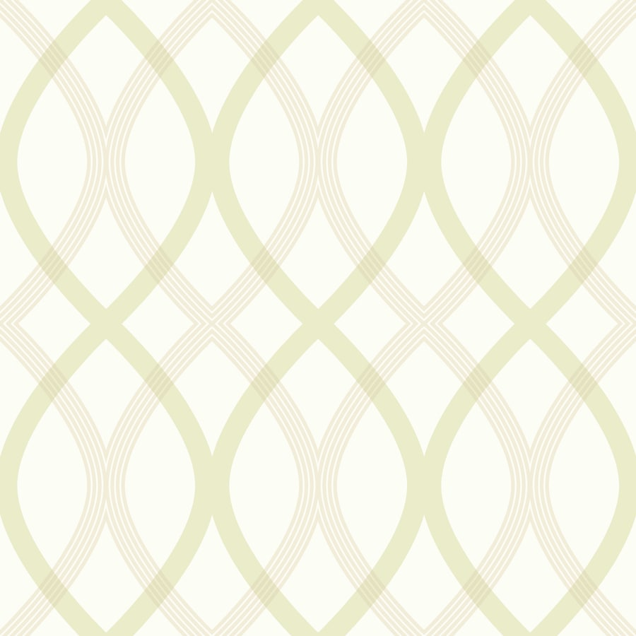Brewster Wallcovering Simple Space 2 White/Green Non-Woven Geometric Wallpaper