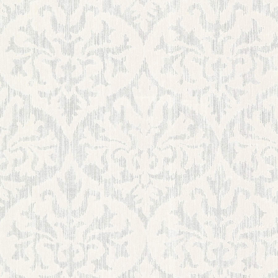 Brewster Wallcovering Silver Classic Damask Wallpaper