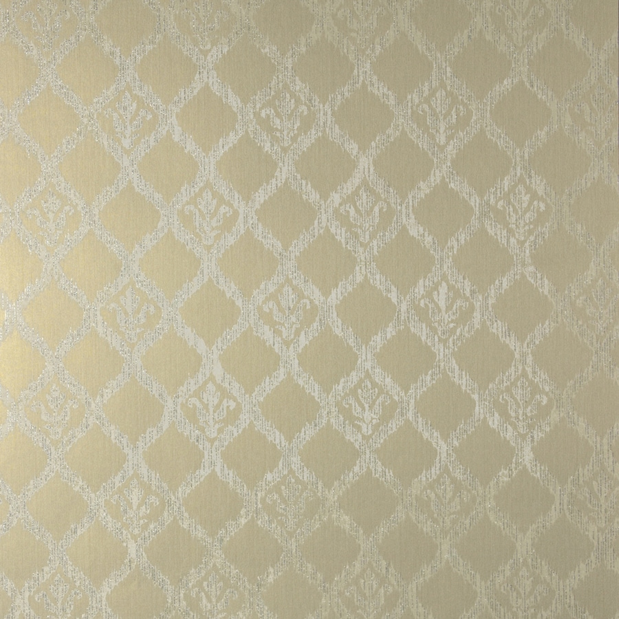 Brewster Wallcovering Sparkle 56-sq ft Gold Non-Woven Geometric  Wallpaper