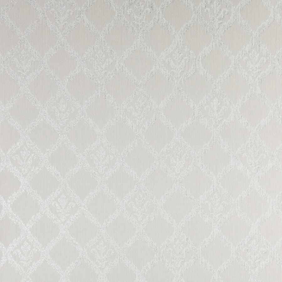 Brewster Wallcovering Pewter Classic Geometric Wallpaper