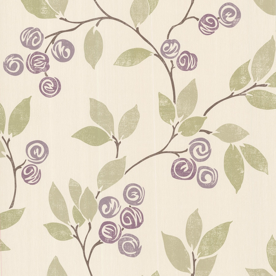 Brewster Wallcovering 33-sq ft Purple Non-Woven Ivy/Vines  Wallpaper