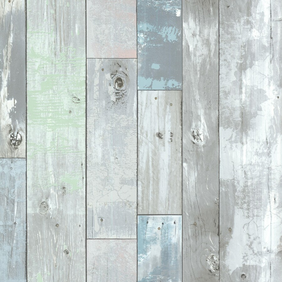 Brewster Wallcovering Blue-Green Non-Woven Wood Wallpaper
