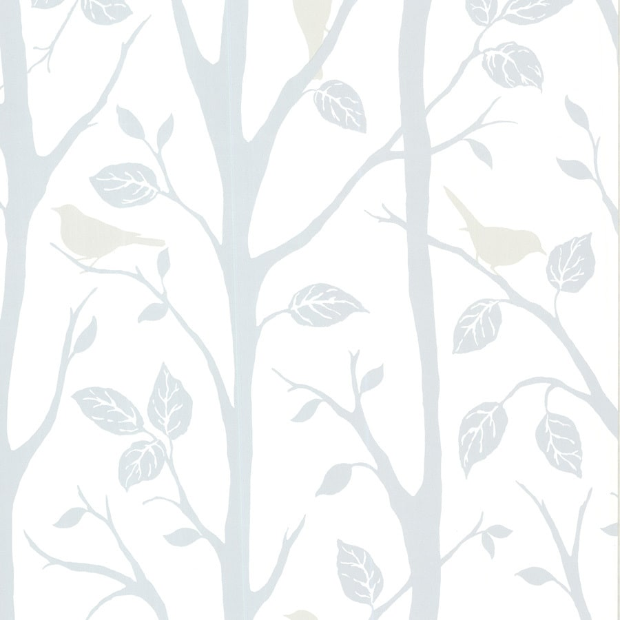 Brewster Wallcovering Sky Grey Vinyl Birds Wallpaper
