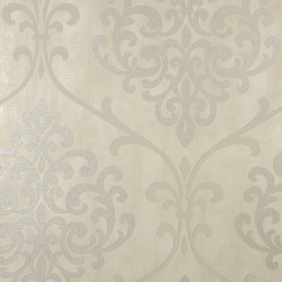 Brewster Wallcovering Taupe Classic Damask Wallpaper