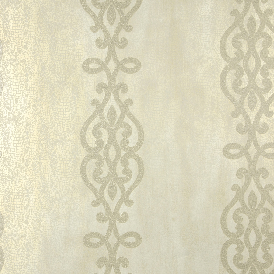 Brewster Wallcovering Sparkle Champagne Non-Woven Stripes Wallpaper