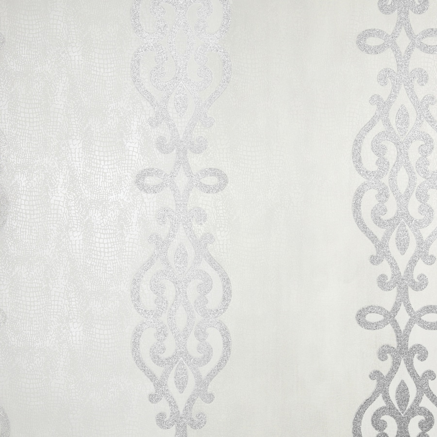 Brewster Wallcovering Silver Classic Stripes Wallpaper