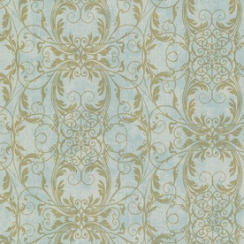 Shop wallpaper at lowescom for Kitchen cabinets lowes with damask decals wall art