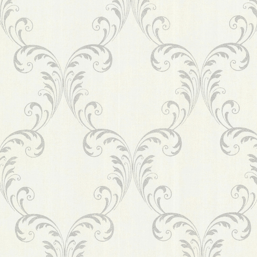Brewster Wallcovering Sparkle 56-sq ft Platinum Non-Woven Geometric  Wallpaper