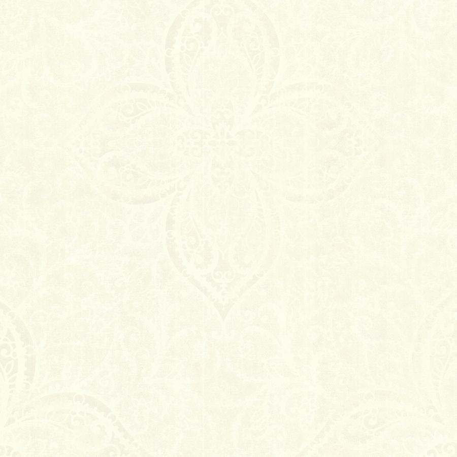Brewster Wallcovering Sparkle Champagne Non-Woven Medallion Wallpaper