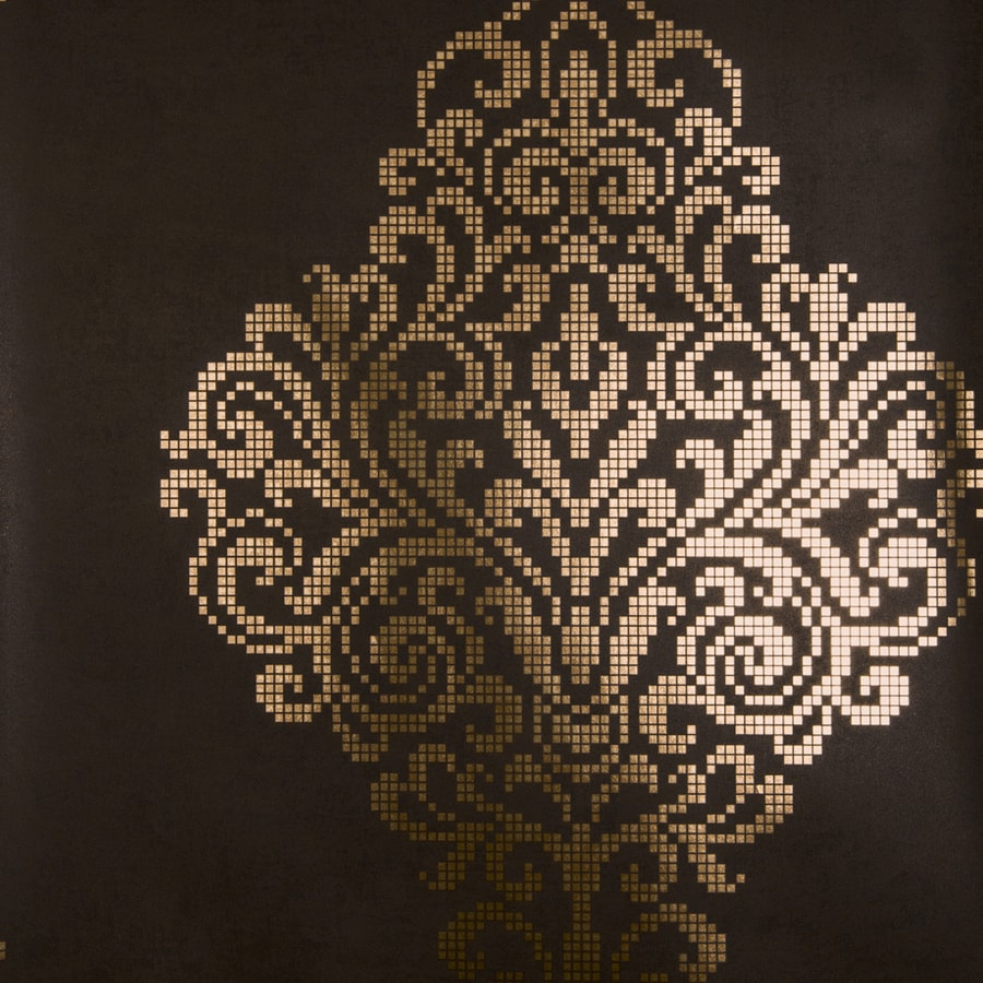 Brewster Wallcovering Brown Classic Damask Wallpaper
