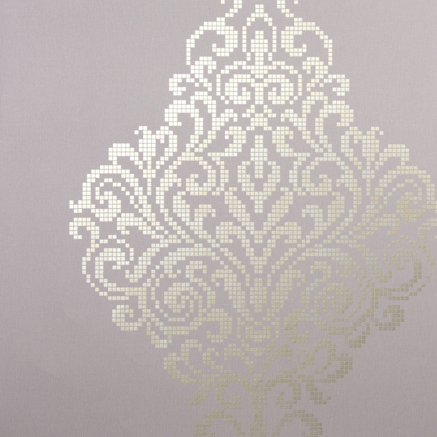 Brewster Wallcovering Sparkle Lavender Non-Woven Damask Wallpaper