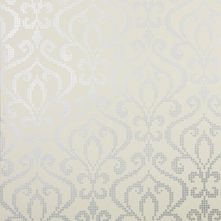 Brewster Wallcovering Pewter Classic Damask Wallpaper