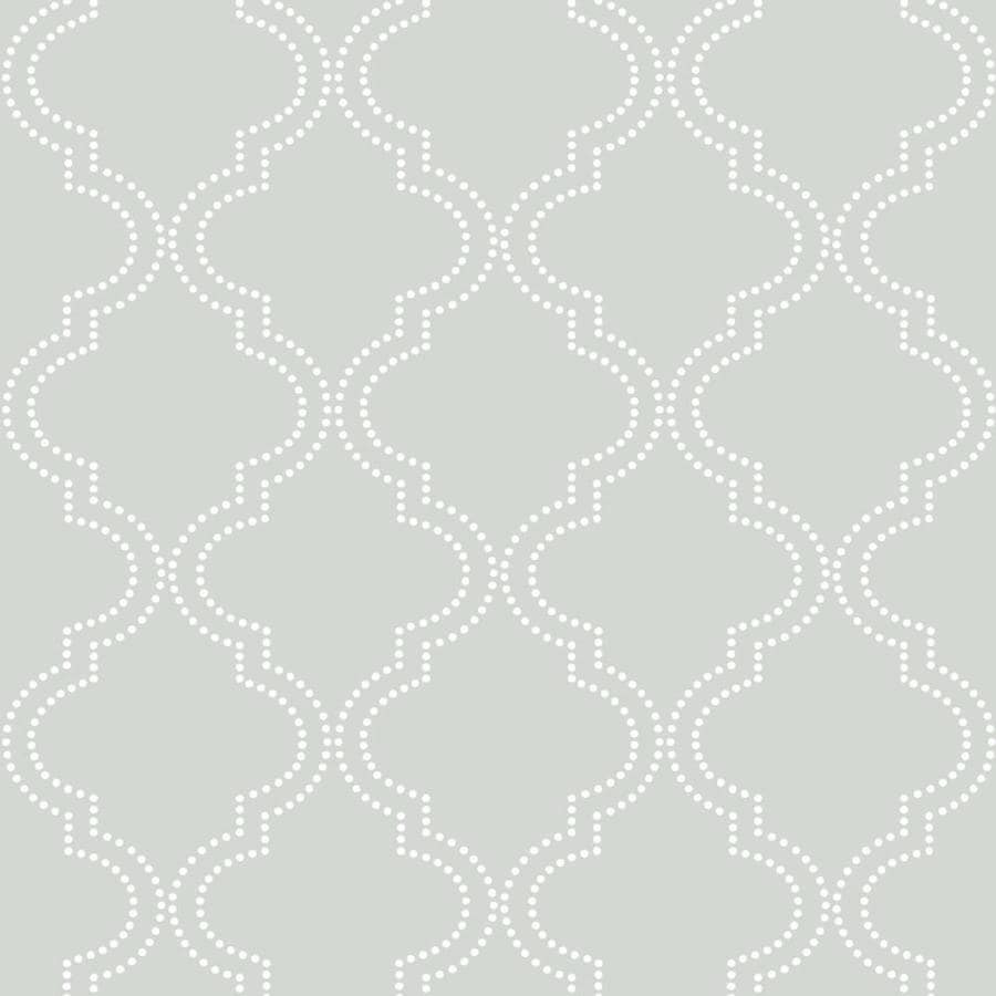WallPops Peel and Stick Grey Vinyl Geometric Wallpaper