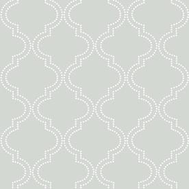 Nuwallpaper Peel And Stick 30 75 Sq Ft Blue Vinyl Geometric Self Adhesive Peel And Stick Wallpaper In The Wallpaper Department At Lowes Com