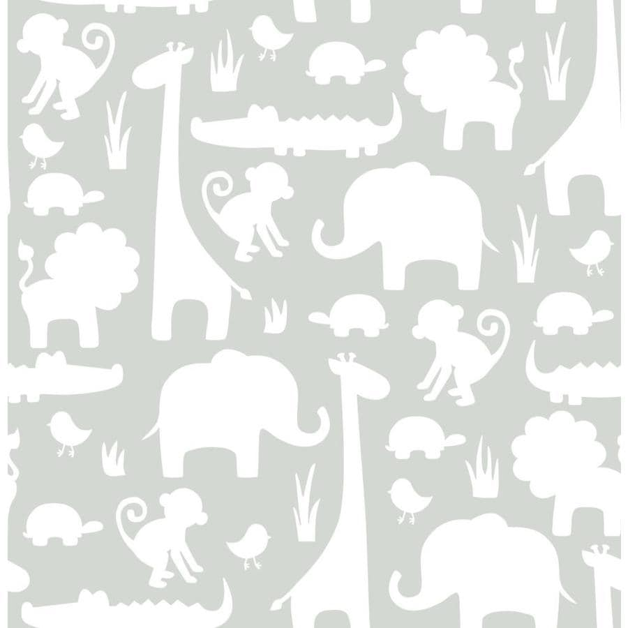 WallPops Peel and Stick Grey Vinyl Birds Wallpaper
