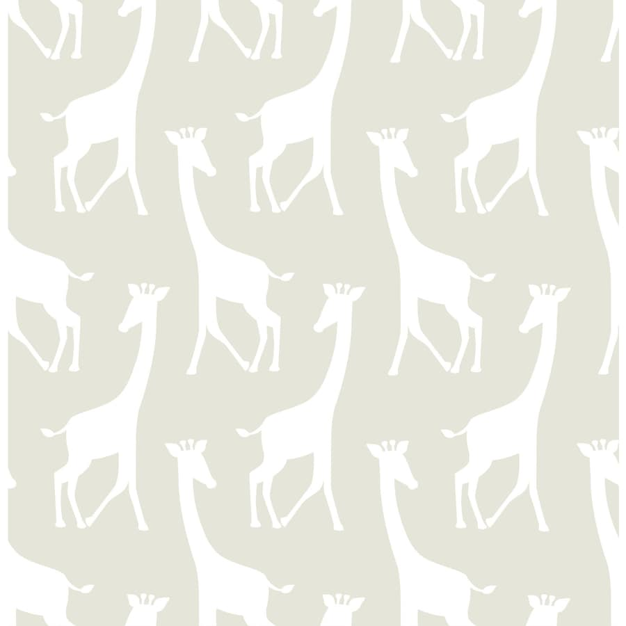 WallPops Peel and Stick Taupe Vinyl Geometric Wallpaper