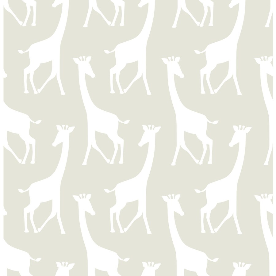 WallPops 30-sq ft Taupe Vinyl Geometric Peel And Stick Wallpaper