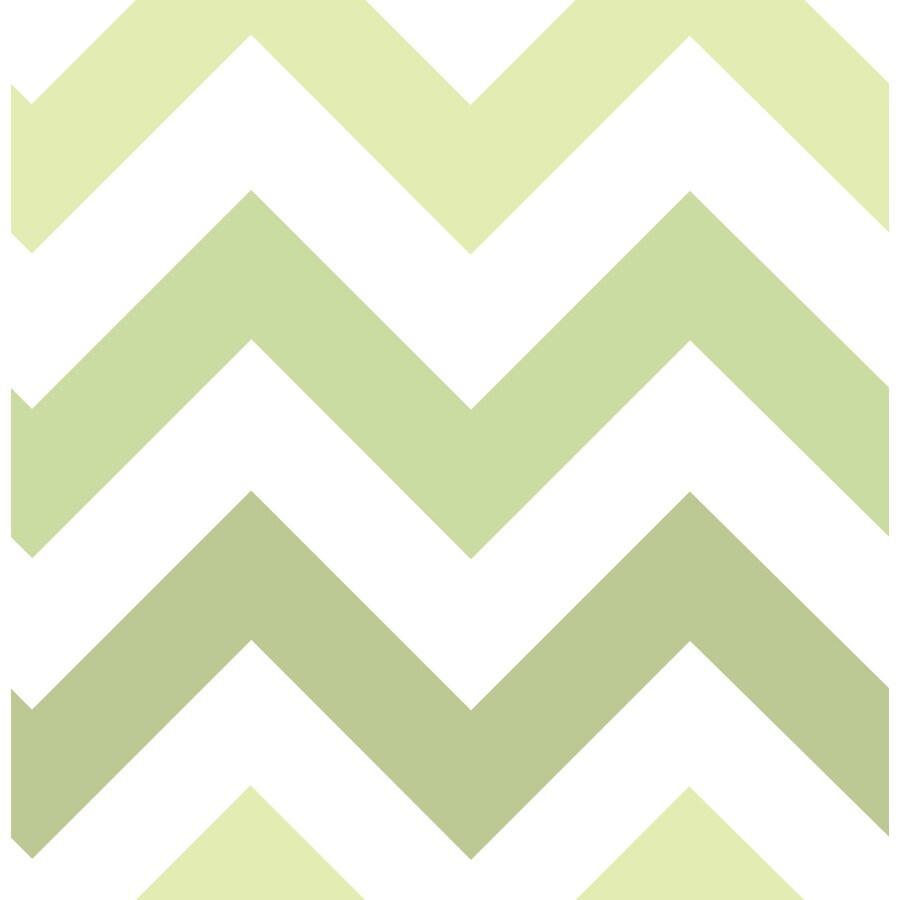WallPops Peel and Stick Green Vinyl Geometric Wallpaper