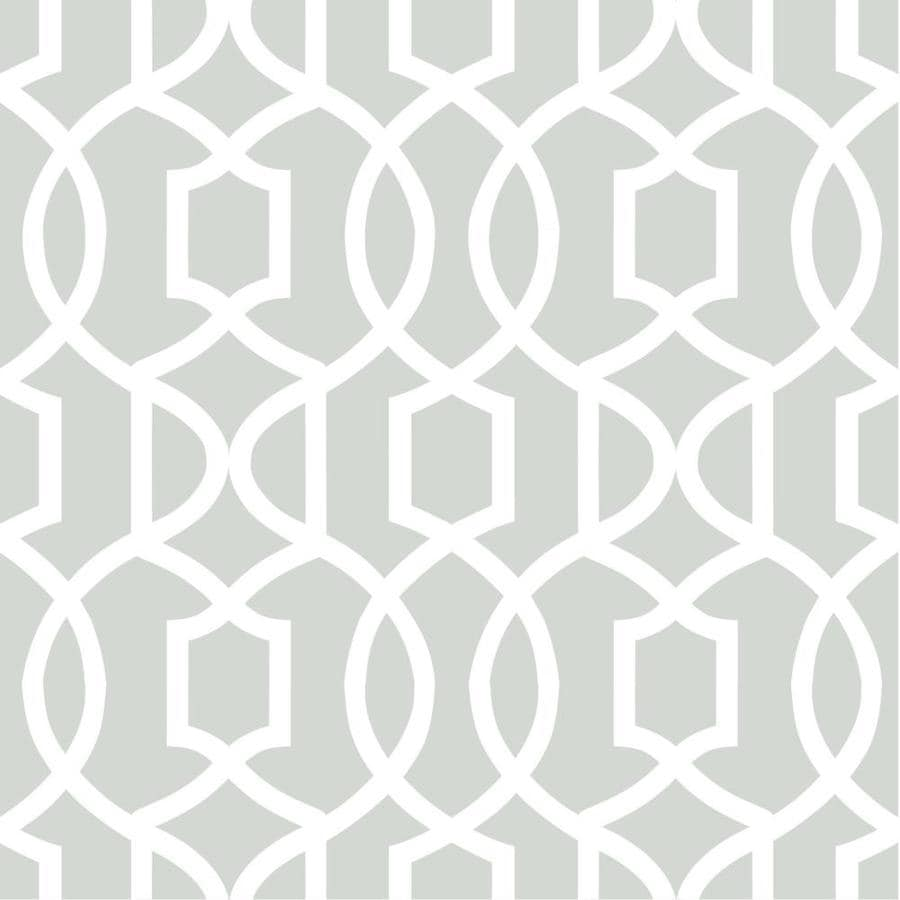 WallPops Grey Repositionable Vinyl Self-Adhesive Classic Wallpaper