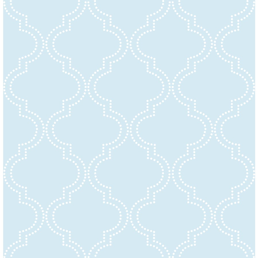 WallPops Peel and Stick Blue Vinyl Geometric Wallpaper