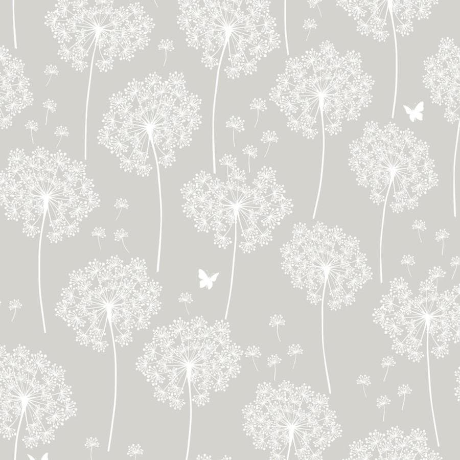 WallPops Peel and Stick Taupe Vinyl Floral Wallpaper