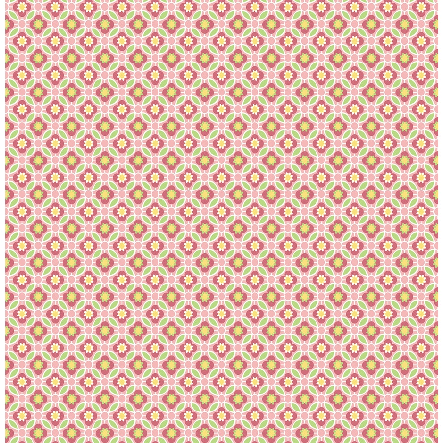 Brewster Wallcovering Pink Classic Geometric Wallpaper