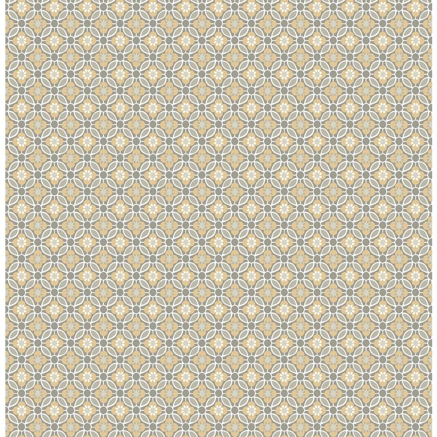 Brewster Wallcovering Ami Mustard Non-Woven Floral Wallpaper
