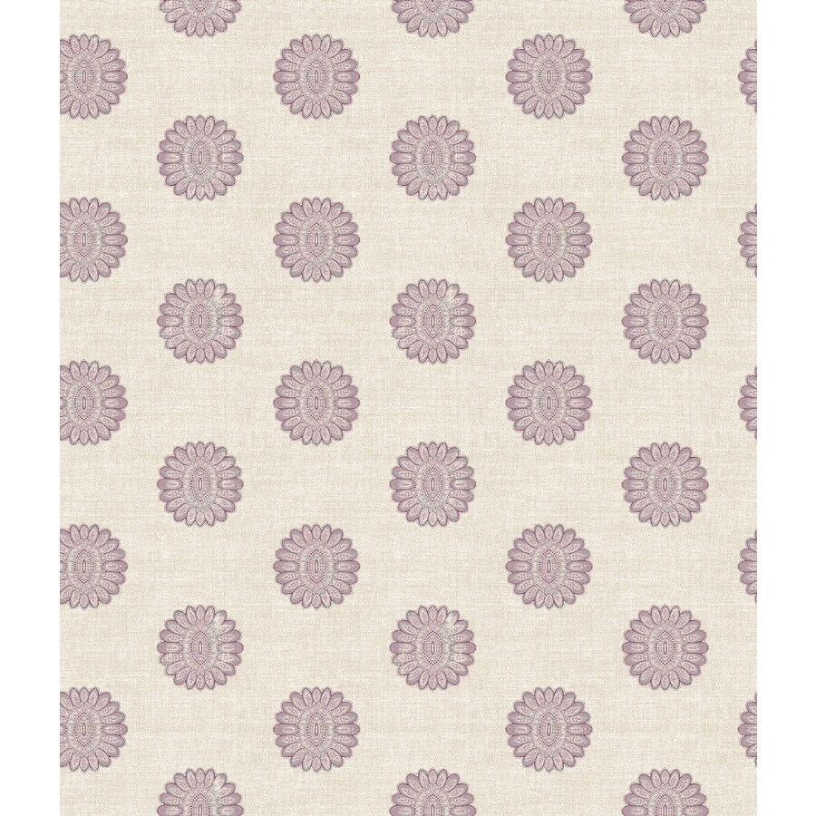 Brewster Wallcovering Ami Purple Non-Woven Geometric Wallpaper